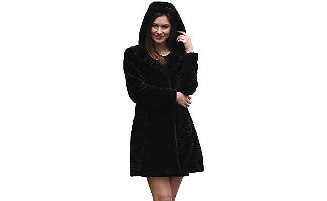 Abrigo tres cuartos de invierno de piel de cordero persa ...
