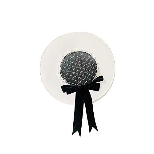 d,Hochzeit übergroßen Hut,Braut Hüte mit Perlen schwarz und weiß Elegante handgemachte Custom Hochzeit Fotografie Show,Blackandwhite ()