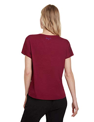 Desigual Women's T-Shirt Larisa Red (Carmin 3000), X-Large Img 1 Zoom