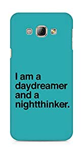AMEZ daydreamer and night thinker Back Cover For Samsung Galaxy A8