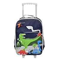 Childrens Carry On Suitcase on Wheels For Boys - Dinosaur design. Ideal Cabin Luggage / Childrens Hand Luggage Trolley Bag / Suitcase.