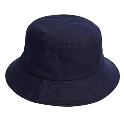 Hüte Hut Herbst und Winter Fischer Hut Männer wilde Sonnenblende einfarbig Mode Hip-Hop-Becken Hut Mode Mantel mit einstellbaren Geschenk Winterhut Größe (Color : Blue, Size : ()