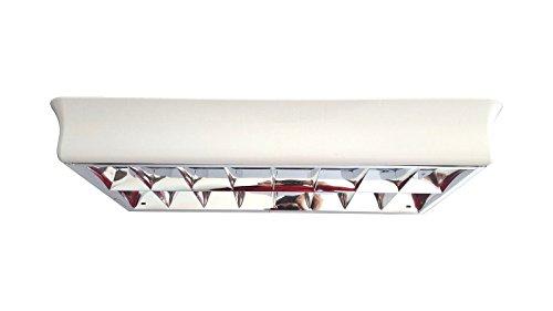 Knoch-Lichttechnik Raster-Deckenleuchte 2x 18Watt Kunststoff mit Parabolspiegel