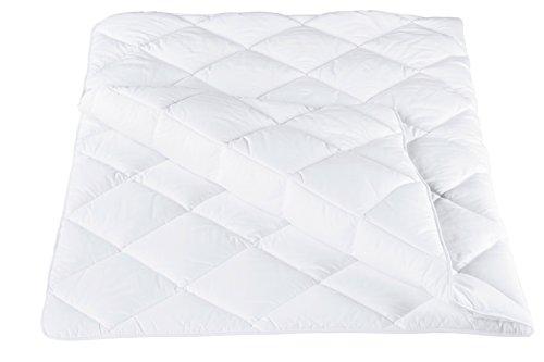 Bettdecken Baumwolle (ZOLLNER® allergikergeeignete Bettdecke / Steppbett / Steppdecke / Steppbettdecke / Einziehdecke 220x240 cm, Füllgewicht: ca. 2150 g, vom Hotelwäschehersteller, Serie