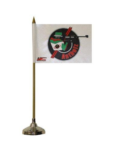 Biathlon Antholz Tischflagge 10 x 15 cm Fahne mit silberfarbenem plastik Fuss