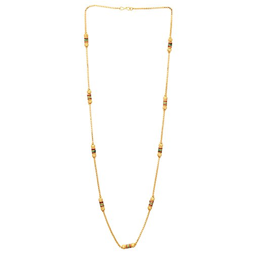 Shreyadzines Gold Plated Traditional Design Long Necklace For