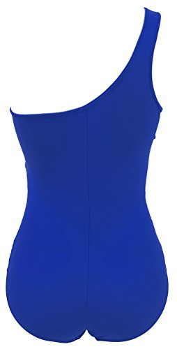 TDOLAH Maillot de Bain Femme 1 Pièce Bikini Sexy Transparent Beachwear Femme Maternité 3 Couleurs Bleu-4