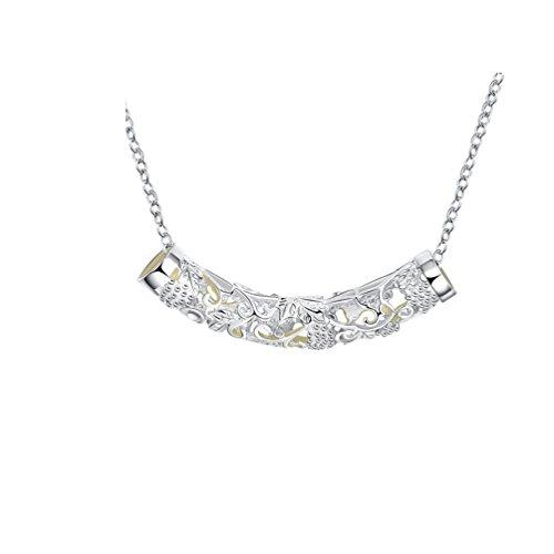 PAURO Damen Einzigartige Hohlen Carving Pfeife Glühen In Der Dunklen Pendant Halskette Länge 20