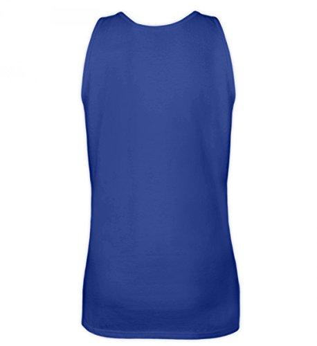 Shirtee Hochwertiges Frauen Tanktop - HASCHERL-schleich di,i hob a schoafen Royal Blau