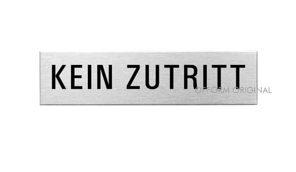 Hinweisschild 160x40 mm Nr.10164 Original aus der Ofform Edelstahlschilder-Kollektion Türschild Besprechungsraum selbstklebend