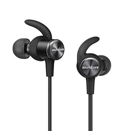 Soundcore Spirit Sports Earphones with Wireless Bluetooth, 8-Hour Battery, IPX7 SweatGuard Technology, Secure Fit for Sport and Workouts, with Mic