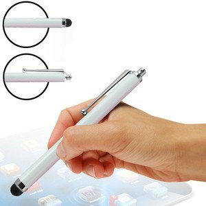 (White) HTC One S9 Hülle Farbunterlegte Touch Screen Stylus Pens im 3er Pack By Fone Case ® -