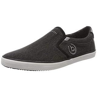 bugatti Herren 321502646900 Slip On Sneaker, Schwarz, 44 EU