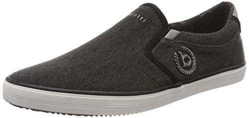 bugatti Herren 321502646900 Slip On Sneaker, Schwarz, 42 EU