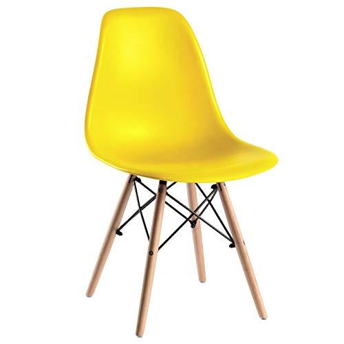 Silla Eames amarilla para comedor o sala