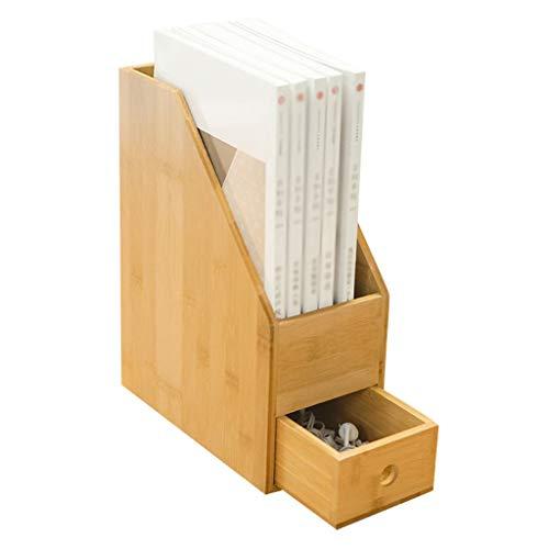 Lixmzzwj office desktop organizer, scrivania in legno per scaffali da tavolo o da banco forniture a 2 livelli con cassetti per la casa e lo spazio di lavoro (dimensioni : 12x23x30)