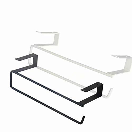 Doyime Papier Handtuch Rollenhalter Trivet Servietten Spender Schrank Schrank Unter Regal Lagerung Rack für Cling Film Küche Handtuch Wrap Aluminium Folie (weiß) (Wrap Papier Lagerung)