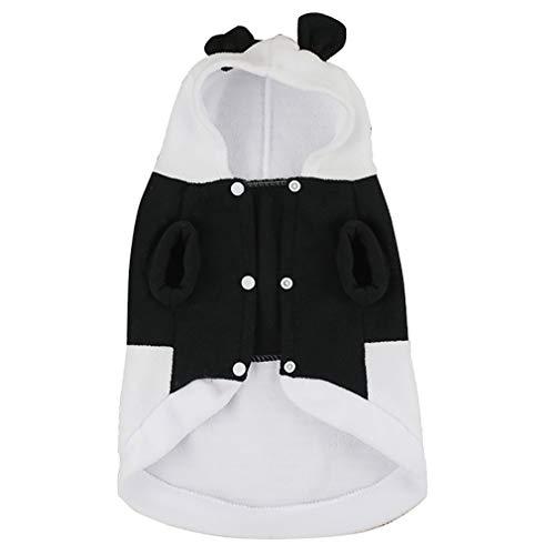 Yeucan Haustier Hund Panda Kleidung Welpen Kätzchen Hoodie Mantel Outfit Outwear für Hunde Katze Party Cosplay Halloween Kleid, XL-Code, Größe 5