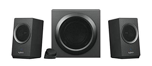 Logitech Z337 Kabelloses 2.1 Lautsprecher-System mit Subwoofer, Bluetooth, 80 Watt Spitzenleistung, 3.5 mm Eingang, Cinch-Eingang, Steuergerät, PC/TV/Tablet/Handy/PS4/Xbox One - schwarz