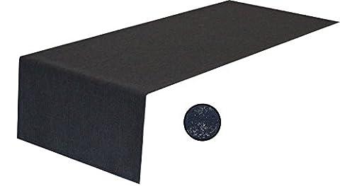 Tischläufer,Kuvertsaum,40x160cm grau, anthrazit Farbe und Größe wählbar, Leinenoptik,tolle Struktur, natürliche Optik, weicher, stabiler Stoff, pflegeleicht,Wasser- und