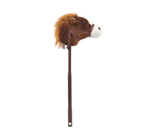 Linzy Plüsch Pferd Verstellbarer Gehstock mit Sound, Dunkelbraun, 91,4cm (Pferd Stick Sound Mit)