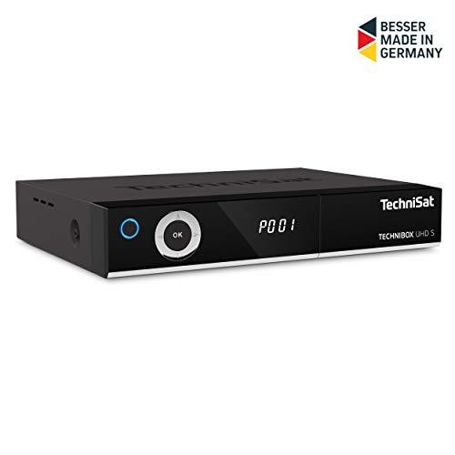 TechniSat TechniBox UHD S 4K Receiver (mit Twin Tuner, Sat DVB-S/DVB-S2, Smart TV, App Steuerung, PVR Aufnahmefunktion, WLAN, LAN, CI+, USB 3.0) schwarz