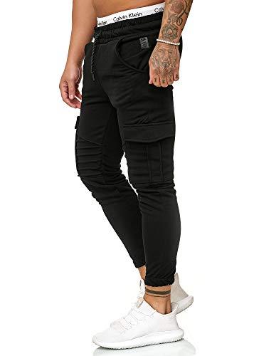 OneRedox Herren Jogging Hose Jogger Streetwear Sporthose Modell 1214 Schwarz XXL