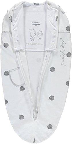 Puckababy® MINI - Pucksack Baby mit Innenweste - 3/6 M | White Dotty | Pucksäcke | Swaddle