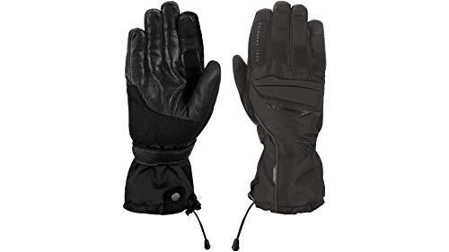 Oxford Motorradschutzhandschuhe, Motorradhandschuhe lang Convoy Handschuh schwarz L, Herren, Tourer, Ganzjährig, Leder/Textil