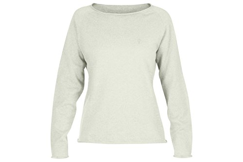 Fjällräven Damen Övik Sweater W. Pullover & Sweatshirts, Ecru, XL