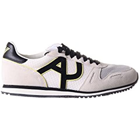 Armani Jeans Mens White Trainers