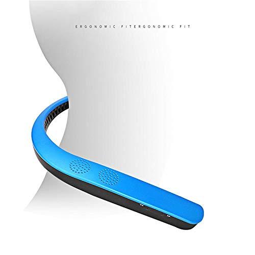 feicahnghao SpeakerWearable Nackenbügel Kabelloser Stereo-Ohrhörer Persönlicher Lautsprecher Bluetooth-Lautsprecher MP3 Palyer-Headset, Roségold (Rosa Ipod-lautsprecher-dock)