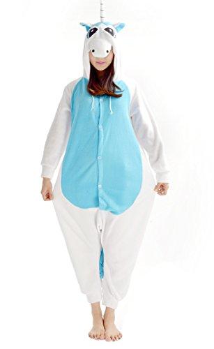 YARBAR Tier Onesies Cosplay Pyjama Erwachsene Unisex Kigurumi Karneval Halloween Kostüm Jumpsuit Blau (Sexy Hamster Kostüme)