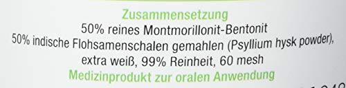 Bentonit MED + Flohsamen Pulvermischung 400 g, CE zertifiziertes Medizinprodukt