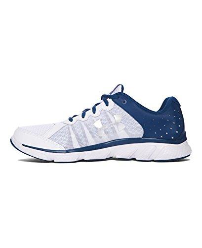 Under Armour Ua Micro G Assert 6, Chaussures de Running Compétition Homme Blanc / bleu marine