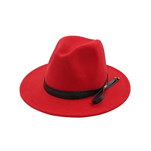 Mafia Klassisches Kostüm - youjiu Jazz Hut klassischen Hut eleganten Temperament Bogen flachen Hut Mode großen Hut @ red_One Größencode 56-58cm