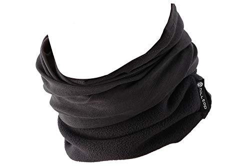 Hilltop Polar Halstuch, Multifunktionstuch, Kopftuch, Schlauchschal, Schal mit Fleece, Cooles Design in Trendfarben, für Damen und Herren, Farbe:Grau uni -