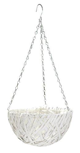 Blumenampel mit Einsatz weiß - rund 1 Stück - L