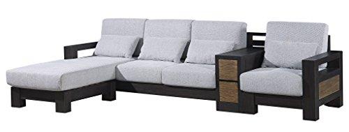 Divano ad angolo in legno sezione divano poltrona con cuscino