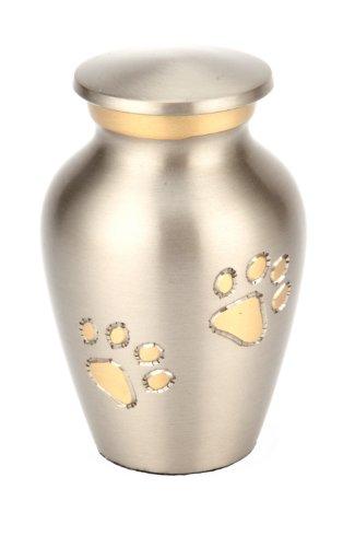 Urns UK Matlock Urne für Haustiere, ca. 7,6cm, Zinnoptik (Ton-urne)