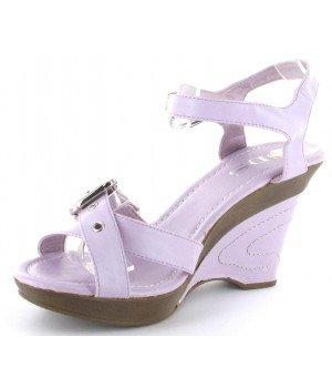 SUPER MODE - Sandales femme à talons compensés violet - 2425-2-12 Violet