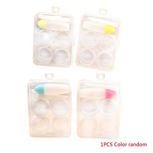 Lafyho Farbe zufällig tragbare Kontaktlinsen-Halter im Freien Spielraum Kontaktlinsen PP-Behälter-Aufbewahrungsbehälter-Kasten