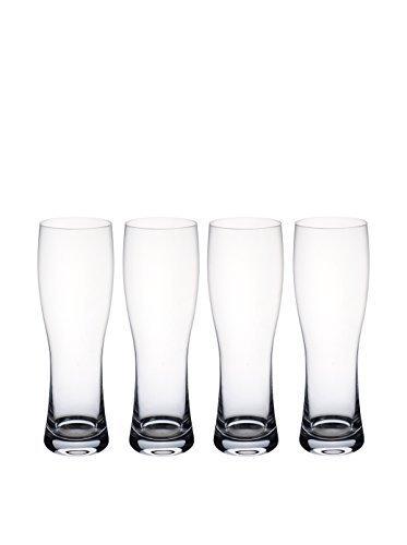 VILLEROY & BOCH Purismo Beer Wheat beer pilsner set of 4 by VILLEROY & BOCH CRYSTAL 4 Crystal Pilsners