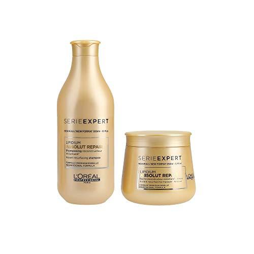L 'Oreal Serie Expert Absolut Repair LIPIDIUM Shampoo 300 ml Und Maske 250 ml