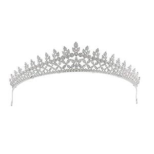 Sepbridals Zirkonia Prinzessin Hochzeit Tiara Crown Diadem Frauen Haarschmuck SchmuckAccessories Jewelry