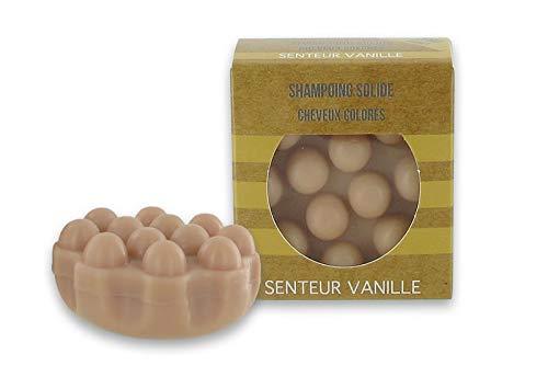 1 Festes Shampoo für gefärbtes Haar - braun - Vanille-Duft