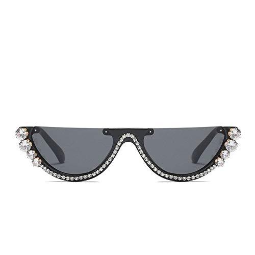 MOJINGYAN Sonnenbrillen,Cat Eye Sonnenbrille Frauen Brille Metall Juwel Mit Strass Deko Katze Augen Sonnenbrillen Vintage Farben (Klassiker Juwelen)