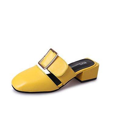 LvYuan Sandalen-Kleid Lässig-PU-Blockabsatz-Komfort-Schwarz Gelb Rot Weiß Red