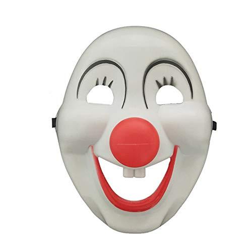 RCFRGV Halloween Maske Burlesque Clown Cosplay Kostüm Maske Kinder Erwachsene Männer Cosplay Halloween Karneval Maskerade Festival/Urlaub PVC (Zombie Burlesque Kostüm)