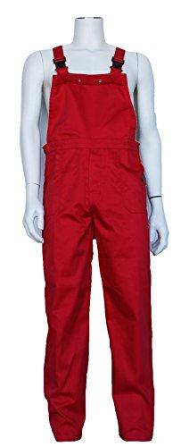 Latzhose, Arbeiterhose für Karneval, Fasching, Freizeit, Hobby, Handwerk, uvm. Farbe: tief rot (50)